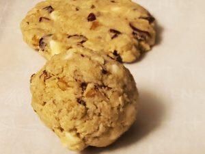 bake gluten free cowboy cookies flatten the cookie